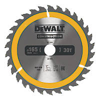 DeWalt Circular Saw Blade 165 x 20mm 30T
