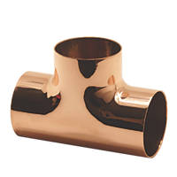 Endex  Copper End Feed Equal Tees 22mm 2 Pack