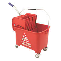 Mobile Mop Bucket Red 20Ltr
