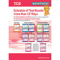 Kewtech TC6 Schedule of Test Results More than 12 Ways Certificates Pad