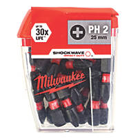 Milwaukee Screwdriver Bit PH2 x 25mm 25 Pack