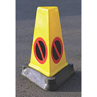 JSP Triangular Mk4 'No Waiting' Traffic Cones 706mm 3 Pack
