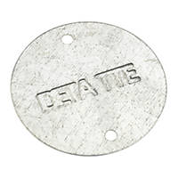 Deta Galvanised Metal Conduit Box Lids 20/25mm Pack of 10