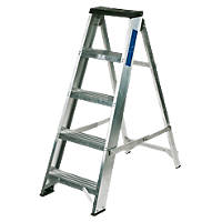Lyte Aluminium Swingback Builders Stepladder 5 Treads 1.03m