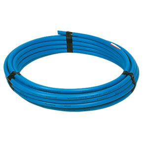 32mm Blue MDPE Water Mains Poly Plastic Alkathene Pipe 100 metre roll ground NEW