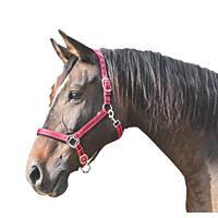 Kerbl Adjustable Head Collar Red & Black