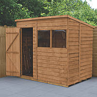 Forest  5' x 7' (Nominal) Pent Overlap Timber Shed with Assembly