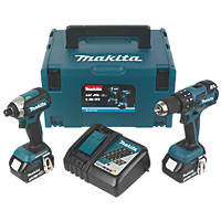 Makita DLX2173TJ 18V 5.0Ah Li-Ion LXT Brushless Cordless Combi Drill & Impact Driver Twin Pack