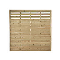 Forest Kyoto  Lattice Top Fence Panels 6 x 6' Pack of 8