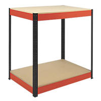 RB Boss Powder-Coated Boltless Freestanding Workbench 900 x 300 x 900mm