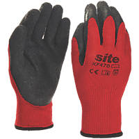 Site KF470 Latex Gripper Gloves Red / Black Large