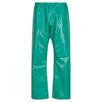 """Alpha Solway CMTE Chemmaster PVC Chemical-Resistant Trousers Green  48"""" W 31"""" L"""