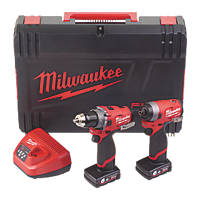 Milwaukee M12 FPP2A-602X FUEL 12V 6.0Ah Li-Ion RedLithium Brushless Cordless Twin Pack