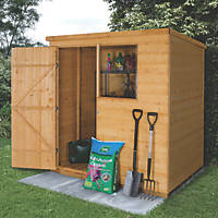 Forest  6' x 4' (Nominal) Pent Shiplap Timber Shed with Assembly