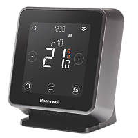 Honeywell T6R-HW Wireless Programmable Thermostat with Hot Water Black
