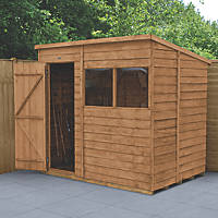 Forest  5' x 7' (Nominal) Pent Overlap Timber Shed with Base