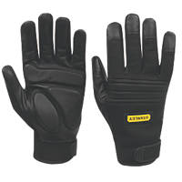 Stanley  Vibration Absorbing Performance Gloves Black Large