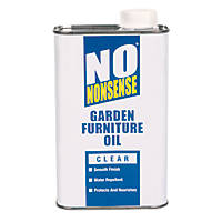 No Nonsense Garden Furniture Oil  Clear 1Ltr