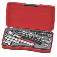 "Teng Tools T3834S 3/8"" Drive Metric Socket Set 34 Pieces"