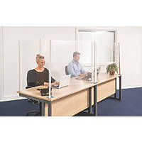 COBA Europe SafeScreen Pro L-Shaped Safety Screen 1800 x 850mm