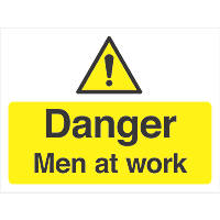 """Danger Men At Work"" Sign 300 x 400mm"