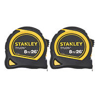 Stanley STHT0-74816  8m Tape Measures 2 Pack