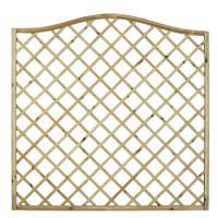 Forest Hamburg Open-Lattice Fence Panels 1.8 x 1.8m 9 Pack