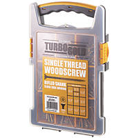 TurboGold PZ Double Self-Countersunk Woodscrews Trade Grab Pack 1000 Pcs