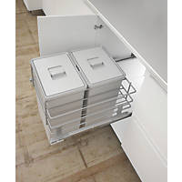Hafele Pull-Out Kitchen Bin Grey 2 x 24Ltr