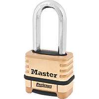 Master Lock 1175DLH  Brass Weatherproof  Combination  Long Shackle Padlock 58mm