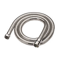Cooke & Lewis Shower Hose Chrome 10mm x 1.5m