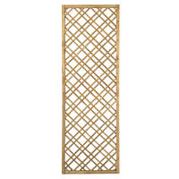 Forest  Softwood Rectangular Double-Slatted Trellis 2 x 6' 5 Pack
