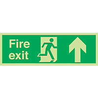 "Nite-Glo  ""Fire Exit"" Up Arrow Sign 150 x 450mm"