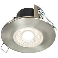 Collingwood DT4 Fixed  Fire Rated LED Downlight Brushed Steel 460lm 4.6W 240V