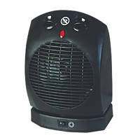 Portable Oscillating Fan Heater 2000W
