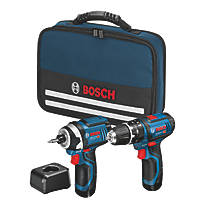 Bosch GSB / GDR 12 12V 2.0Ah Lithium Coolpack  Cordless Twin Pack