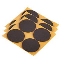 Fix-O-Moll Brown Round Self-Adhesive Felt Gliders 35 x 35mm 12 Pack