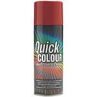 Quick Colour Spray Paint Gloss Red 400ml