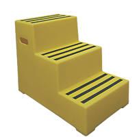 Polyethylene 3-Step Safety Steps 620mm Yellow