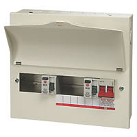 Wylex  10-Module 7-Way Part-Populated High Integrity Dual RCD Consumer Unit