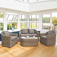 Rowlinson Bunbury Rattan Sofa Set 4 Pieces