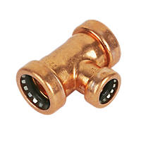 Tectite Sprint  Copper Push-Fit Reducing Tee 22 x 22 x 15mm