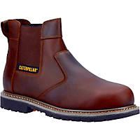 CAT Powerplant Dealer   Safety Dealer Boots Brown Size 8
