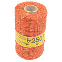 Stockshop Electric Fence Polywire Orange 3mm x 250m