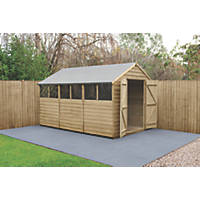 Forest  8' x 12' (Nominal) Apex Overlap Timber Shed with Assembly