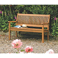 Rowlinson Willington Garden Bench Hardwood 1240 x 720 x 870mm