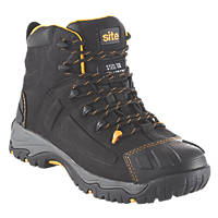 Site Fortress Waterproof Safety Boots Black Size 10