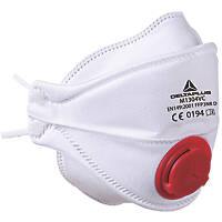 Delta Plus M1304V 4-Panel Foldable Valved Mask P3 10 Pack