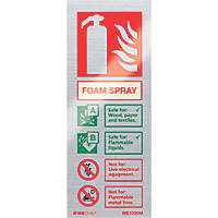 "Firechief  ""Foam"" Fire Safety Sign 200 x 80mm"