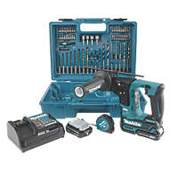 Makita HR166DSAE1 1.8kg 10.8V 2.0Ah Li-Ion CXT Brushless Cordless SDS Drill & 65Pc Accessory Kit